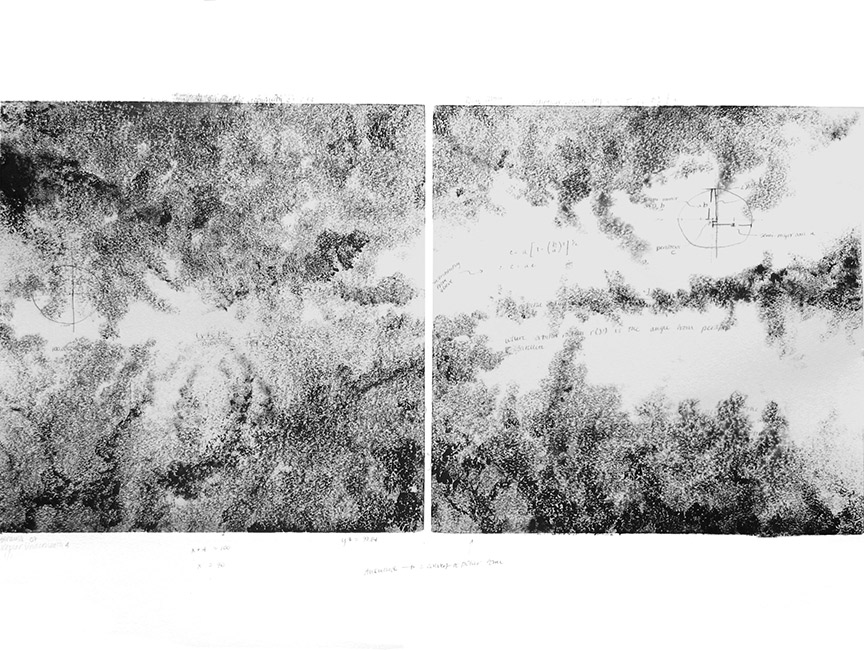Kathy Strauss print, Kepler Underneath 2 (Left)
