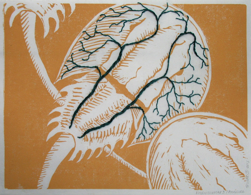 Kathy Strauss print, Undercurrents 3, Limulus Circulation